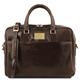 Geanta laptop din piele maro inchis, cu 2 compartimente, Tuscany Leather, Urbino