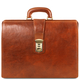 Servieta doctor din piele naturala honey, Tuscany Leather, Canova