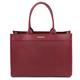 Geanta de dama, din piele naturala rosie, Tuscany Leather, Woven